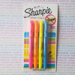 4 Highlighter Sharpie Narrow Chisel
